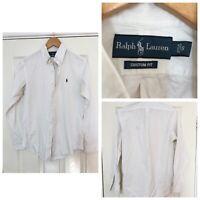 Ralph Lauren White Shirt Long Sleeve Mens Size Small S Custom Fit (C659)
