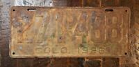 "1926 COLORADO License Plate 271 - 488.  6"" x 14""  Free Shipping"