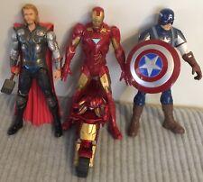 Hasbro Marvel Action Figures Bundle Superhero Iron Man Captain America Thor Bike