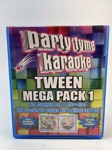 Party Tyme Karaoke Tween Mega Pack 1 (CD, 2014, 4-Discs) W/ Carrying Case
