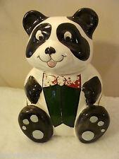 Weiss Cookie Jar Hand Painted Panda Bear Brazil VINTAGE Signed
