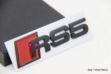B186 RS 5 Emblem schwarz RS5 Badge auto aufkleber 3D Schriftzug car Sticker