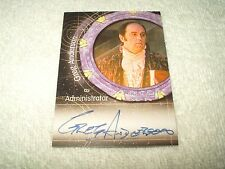 Stargate SG1 Autograph Card Greg Anderson as Adminstrator