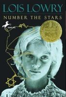 NUMBER THE STARS a paperback book by Lois Lowry FREE SHIP (Newbery Medal winner)