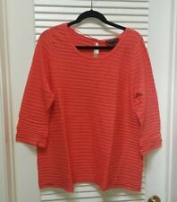 Lane Bryant Orange A Line Keyhole Ribbed Pullover Sweater Scoop Neck Plus 14/16