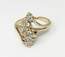 Diamond Cluster Cocktail Ring - 0.50 Carats, G-SI,Size 6 - DISCOUNT from $540