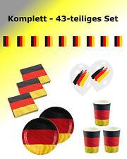 Fußball Party Deko Set Deutschland - 43-teiliges Set Kindergeburtstag Geburtstag