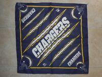 "Vintage 90s NFL San Diego Los Angeles Chargers Bandana Handkerchief 21""x21"""