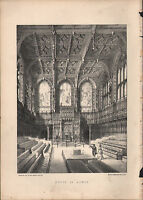 1875 London Stampa ~ Casa Di Lords