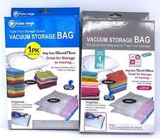 2 X Vacuum Storage Bags 55cm X 75cm 70 X 100cm Clothes Sealer Space Saver