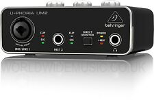 - Behringer U PHORIA UM2 Audiophile 2x2 INTERFACCIA AUDIO USB CON PREAMP MIC XENYX
