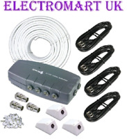 SLX 27874RG 4 WAY ROOM DIGITAL TV DAB AERIAL AMPLIFIER BOOSTER 4G FILTER KIT