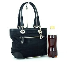 Auth CHRISTIAN DIOR Nylon & Leather Mini Lady Dior Shoulder Bag Handbag Vintage