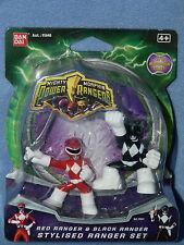 ReD Ranger and Black - Stylised Ranger Set - Mighty Morphin Power Rangers