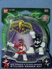 Ranger Rojo y Negro Estilizado Ranger Set-Mighty Morphin Power Rangers