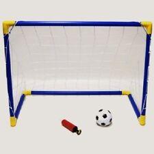 KIDS CHILDREN MINI FOOTBALL SOCCER GOAL POST SET W NET BALL INDOOR OUTDOOR NEW