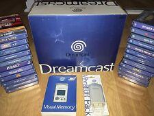 Console SEGA DREAMCAST complète en boîte et notice + 24 jeux RARE
