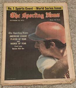 The Sporting News Baseball Newspaper, 10/18/73, Fred Lynn, Boston Red Sox ~ Fair