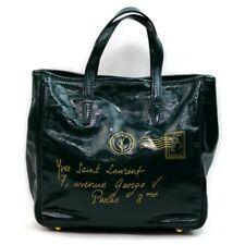 Authentic YSL Yves Saint Laurent Hand Bag  Greens Enamel 1211903