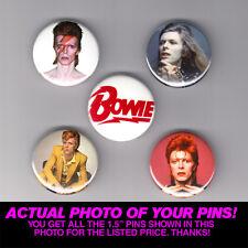 """DAVID BOWIE - 1.5"""" PINS / BUTTONS (shirt poster lp vinyl ziggy stardust starman)"""