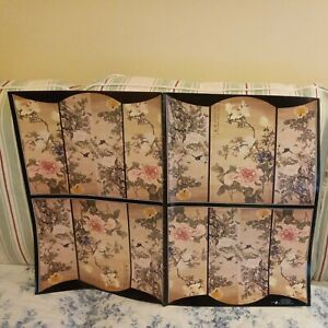 Vintage ORIENTAL Wrapping Paper -  FLOWERS on SILK  by Paul Jacquet x 4 Sheets