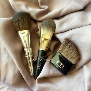 Christian Dior travel size brush set bundle blush/powder & contour & foundation