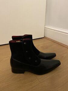 Shoebase Mens Black Leather Chelsea Boots UK 7. D123220