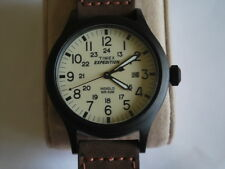 Nice TIMEX Expedition Indiglo Men's Military Watch w/Date & Gun Metal Case