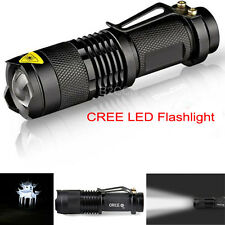 Mini Flashlight 7W 300LM CREE LED Torch Waterproof Adjustable Focus Light Lamp