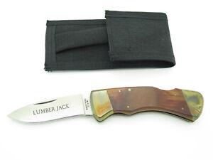 Vtg Gutmann Explorer 11318 Seki Japan Edge Mark Lumber Jack Folding Hunter Knife