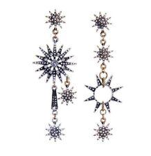 Betsey Johnson New Fashion rare Alloy Rhinestone stars drop earrings Jewelry