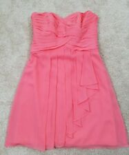 Davids Bridal Bridesmaid/Homecoming/Prom Dress Short Orange/Salmon Size 10.