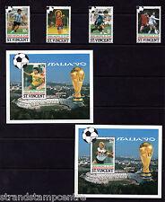 St. Vincent - 1990 World Cup Football - U/M - SG 1559-62 + MS1563 (SPECIMEN)