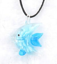 fashion 1pc lovely fish Lampwork Glass bead pendant Necklace p864_6