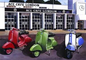 Ace Cafe Scooter Meet - Scooter, Vespa, Lambretta Print
