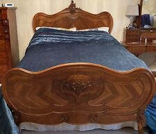 More details for french louis xv walnut king size bed and frame