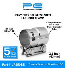 """2.5"""" inch 63mm Stainless Steel lap joint Clamp heavy duty exhaust band  LP250SS"""
