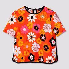 Victoria Beckham for Target Women's Retro Floral Pebble Crepe Top - M (Medium)