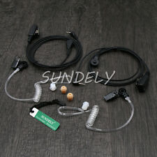 Clear Acoustic Tube Headset/Earpiece Garmin Rino610/Rino655 Handheld Radio Combo