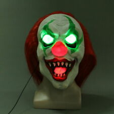 Cosplay Clown Pennywise LED Mask Halloween Horrible Scary Joker LED Mask Props