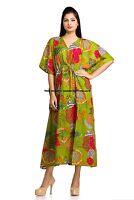 Fashion Women Casual Kaftan Maxi Plus Size Cotton Long Dress Caftan Gown Indian
