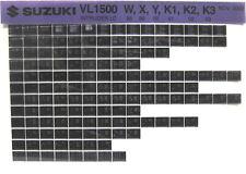 Suzuki VL1500 Intruder LC 1998 1999 2000 2002 2003 Parts Catalog Microfiche s468