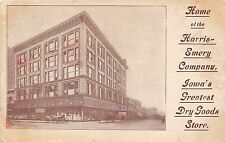 Des Moines Iowa~Harris-Emery Co Dry Goods Store~Horse & Buggy in Front~1910 B&W