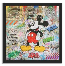 """Mickey Mouse  """" Peace """", Limited Edition fine art paper, Signed,Comics , Love"""