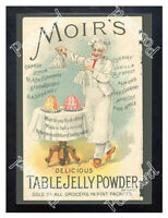 Historic Moir's Table Jelly Powder, 1890s. Advertising Postcard