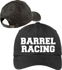 Barrel Racing Baseball Cap Horse Lovers Hat with Soft Feel Lettering.