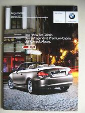 PROSPECTO INTERNO BMW Serie 1 Cabrio 118i 120i 125i 135i 120d E88 Argumentos MJ