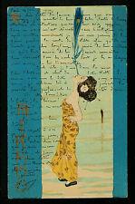07-POSTCARD:SIGNED RAPHAEL KIRCHNER: III MIKADO SERIES:Gesiha & PLUMA, Art Deco