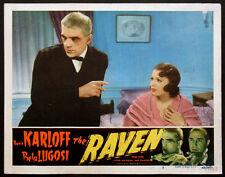 THE RAVEN BORIS KARLOFF EDGAR ALLAN POE REALART HORROR R-1948 LOBBY CARD #8