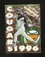1996 Kane County Cougars Schedule--Goose Island Honker's Ale